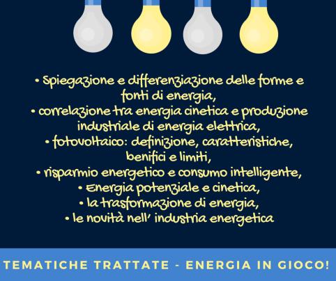 TEMATICHE TRATTATE - ENERGIA IN GIOCO!